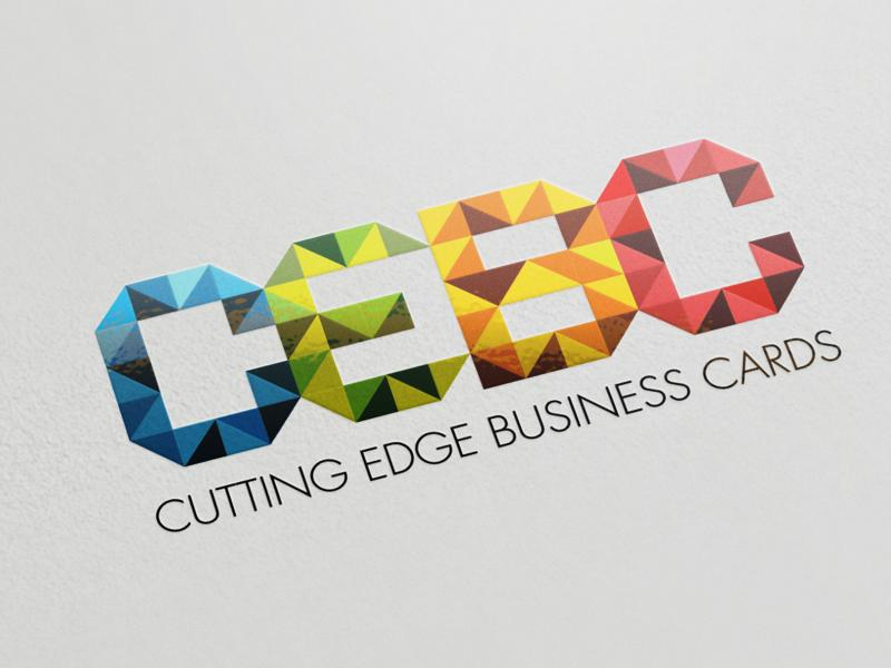 Cutting edge business cards 44 full color business cards enlarge image thermography raised print black ink reheart Gallery